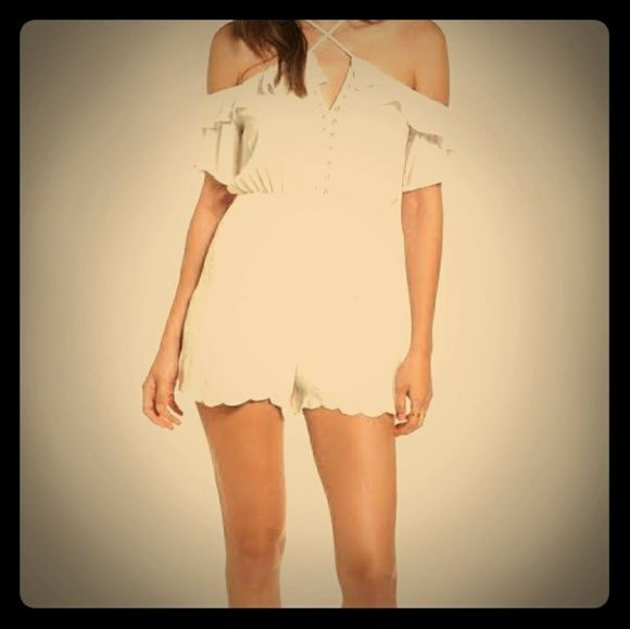 Lush Pants - NEW LUSH strappy off the shoulder romper